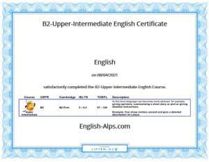 B2-Upper-Intermediate English Certificate