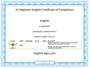 A1-Elementary English Certificate