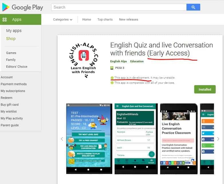 Free Game App to Learn English
